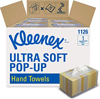 Kleenex Hand Towels (11268), Ultra Soft and Absorbent, Pop-Up Box, 18 Boxes / Case, 70 Paper Hand Towels / Box, 1,260 Sheets / Case