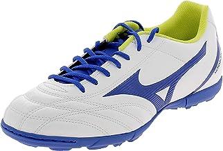 حذاء كرة قدم رجالي MIZUNO P1GD192519 Monarcida Neo Select AS باللون الأبيض/الأزرق/الأصفر الفاتح