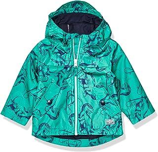 Osh Kosh Baby Boys Perfect Rainjacket Rainslicker Raincoat, Dino Skater Green, 24 Months