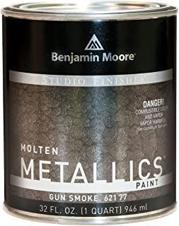 Studio Finishes Molten Metallics - Quart (Gun Smoke)
