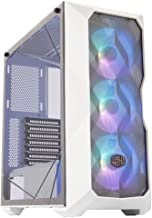 Cooler Master MasterBox TD500 Mesh White Airflow ATX Mid-Tower with Polygonal Mesh Front Panel, Crystalline Tempered Glas...