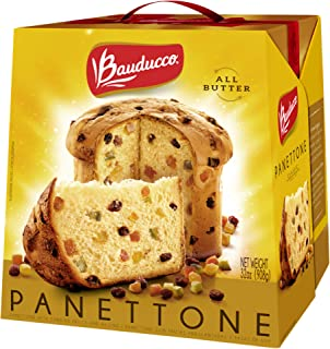 Bauducco Panettone - Traditional Italian Holiday Cake - Moist & Fresh Specialty Cake - All Butter Gift Pack 32.05 Oz