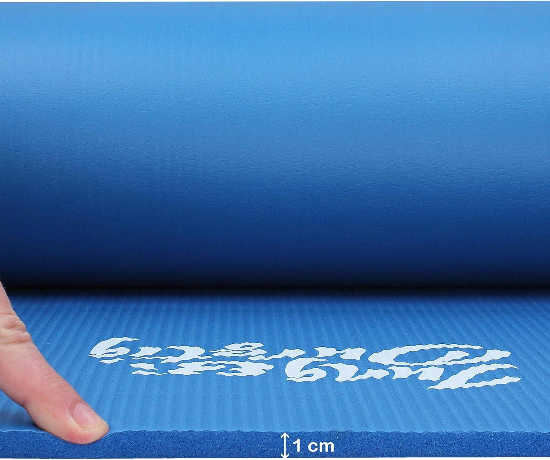 180 x 60 x 1 cm Jung /& Durstig Yogamatte Gymnastikmatte Sportmatte Fitnessmatte rutschfest mit Tragegurt
