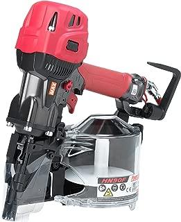 MAX USA HN90F High Pressure Coil Framing Nailer, Red/Black/Silver
