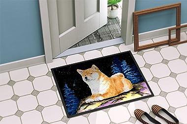 """Caroline's Treasures Starry Night Shiba Inu Indoor or Outdoor Doormat, 24"""" x 36"""", Multicolor"""