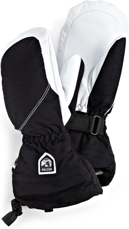 Hestra Store Womens Heli Mitt Gloves 6 Black White 67% OFF of fixed price Off