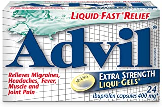 Advil Extra Strength Liqui-Gels (24 Count) 400 mg ibuprofen, Temporary Pain Reliever/Fever Reducer
