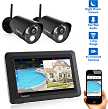 "CasaCam VS802 Wireless Security Camera System with 7"" Touchscreen and HD Nightvision.."