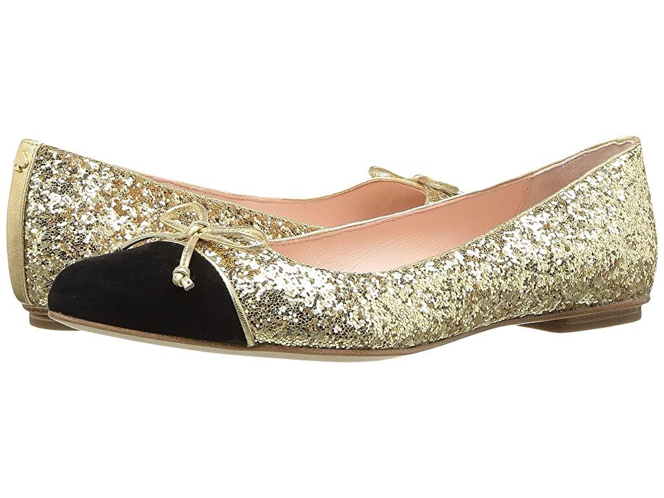 Kate Spade New York Nella (Gold Glitter/Black Suede) Women