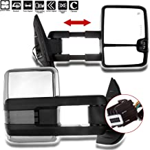 SCITOO Towing Mirrors fit Chevrolet GMC Automotive Exterior Mirrors fit 2007-2014 Chevrolet Silverado GMC Sierra (07 for New Body) with Amber Turn Signal Power Controlling Heated Back up Light
