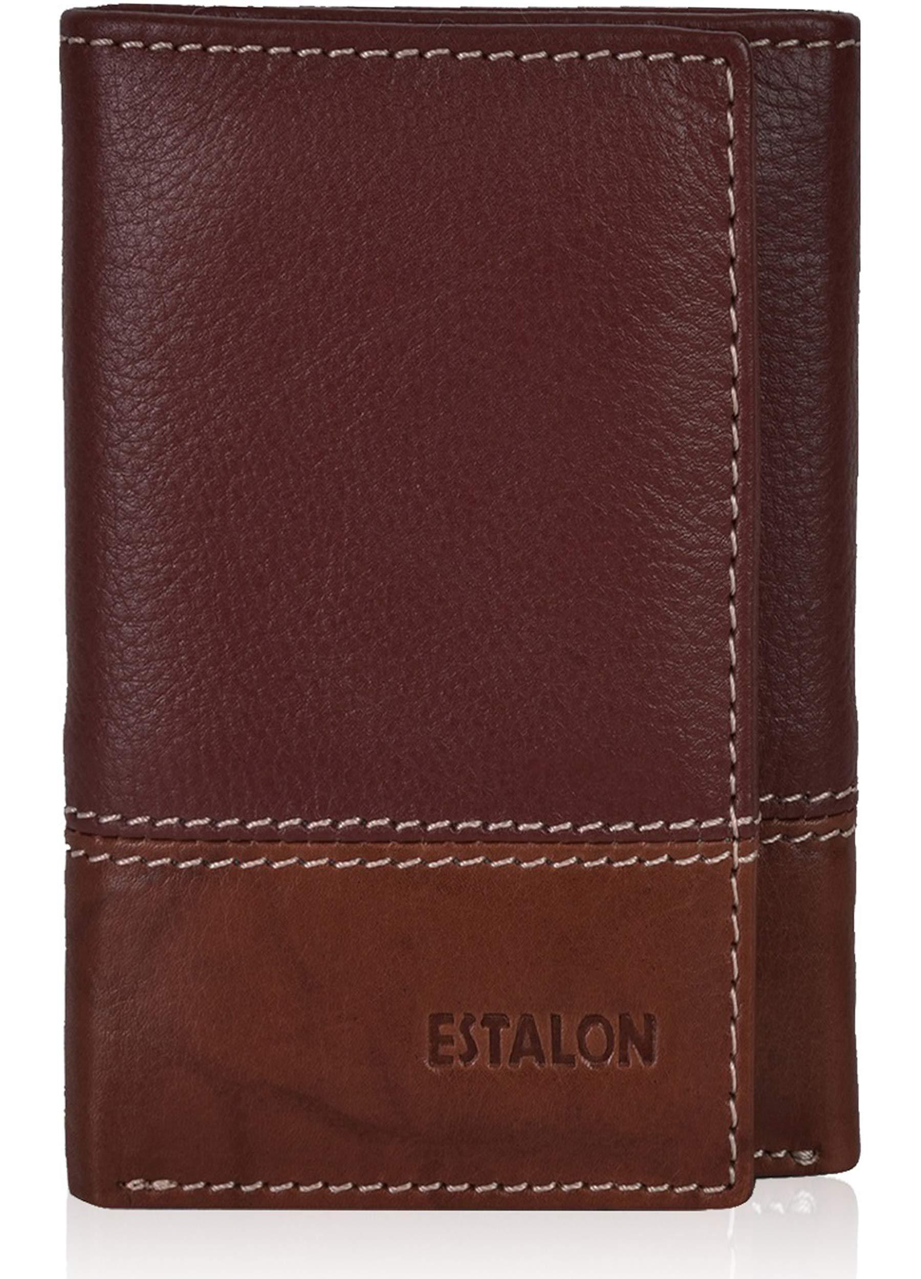 Slim Leather wallets Men trifold