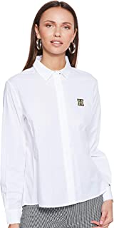 Tommy Hilfiger Women's WW0WW23605-White Shirts