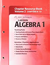 Holt McDougal Larson Algebra 1: Chapter Resource Book, Volume 2