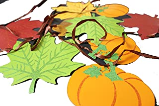 Chic Designs 12 Ft Welcome Fall Banner, Colors of Autumn, Leaf Shaped Banner Garland Thanksgiving Party Leaf Fall Colors Fun Garland