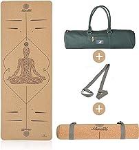 Lebensmuster Antislip yogamat van kurk en natuurlijk rubber, inclusief tas 183 cm x 66 cm x 5 mm, vrij van schadelijke sto...
