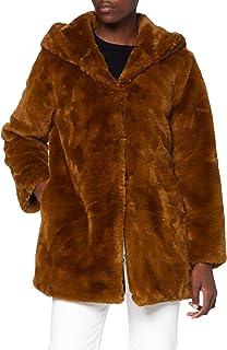 Urban Classics Teddyjacke Plüsch Mantel aus Fleece-Ladies Hooded Teddy Coat Parka para Mujer