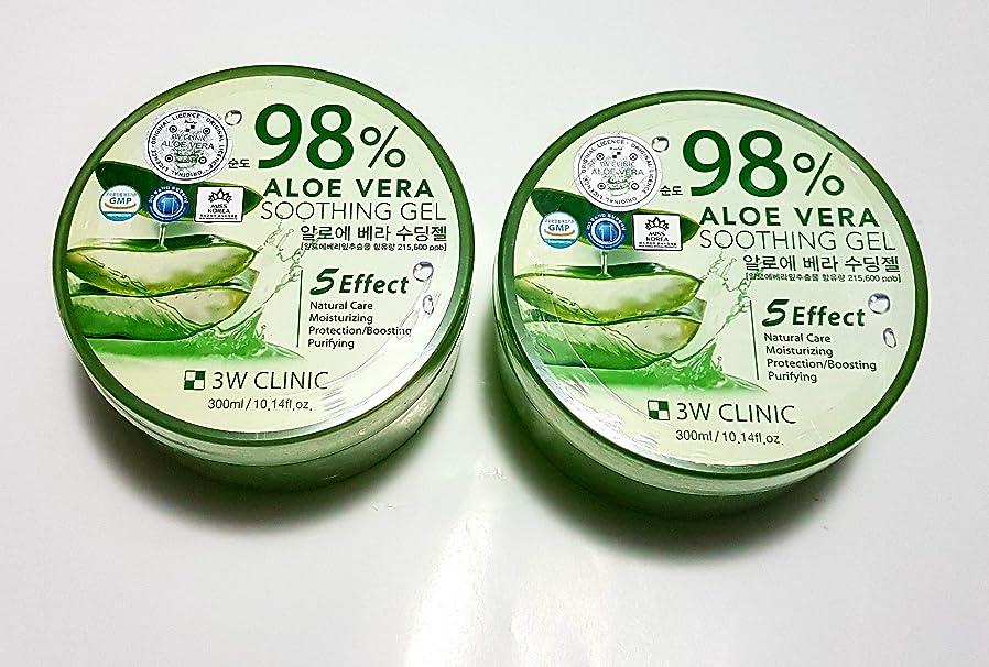 西召集する除去3Wクリニック Aloe Vera Soothing Gel 300ml/10.14oz並行輸入品