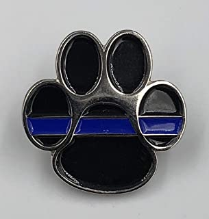 LEO Challenge Coins K9 Thin Blue Line Canine Lapel Pin