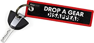 KEYTAILS Keychains, Premium Quality Key Tag for Motorcycle, Car, Scooter, ATV, UTV [Drop A Gear & Disappear]