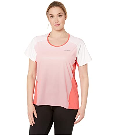 Columbia Plus Size Solar Chilltm 2.0 Short Sleeve Shirt (Red Coral) Women