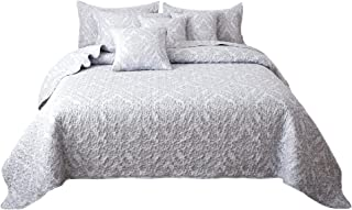 provincetown reversible twin quilt in grey