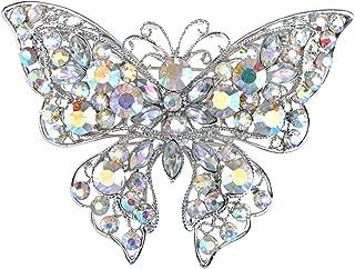 vintage silver butterfly brooch
