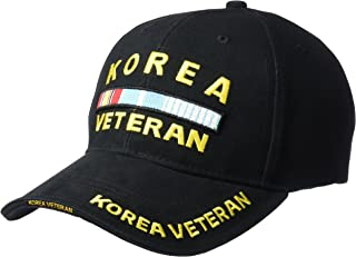 Deluxe Low Profile Cap Blk - Korea Veteran