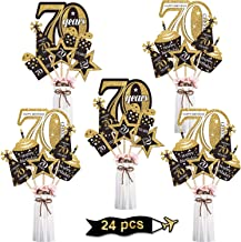 70th party table decorations