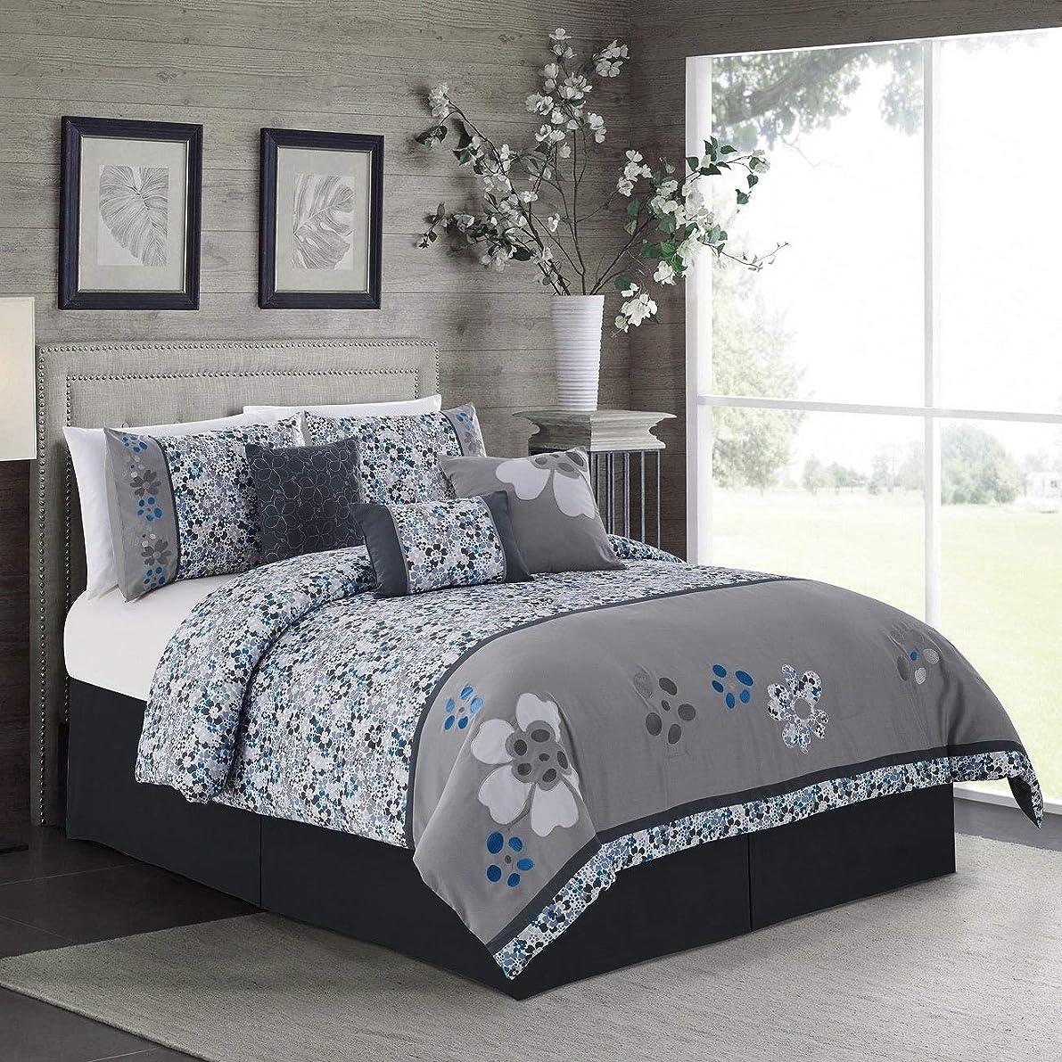 不正確援助するきつくElight Home 21062Q King Size Daisy Comforter Set - 7 Piece