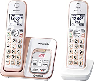 Panasonic KX-TGD562G Link2Cell Bluetooth Cordless Phone with Voice Assist and Answering Machine - 2 Handsets (Renewed)