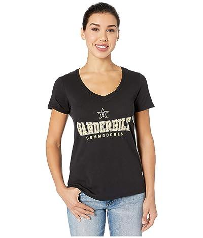 Champion College Vanderbilt Commodores University V-Neck Tee (Black 2) Women