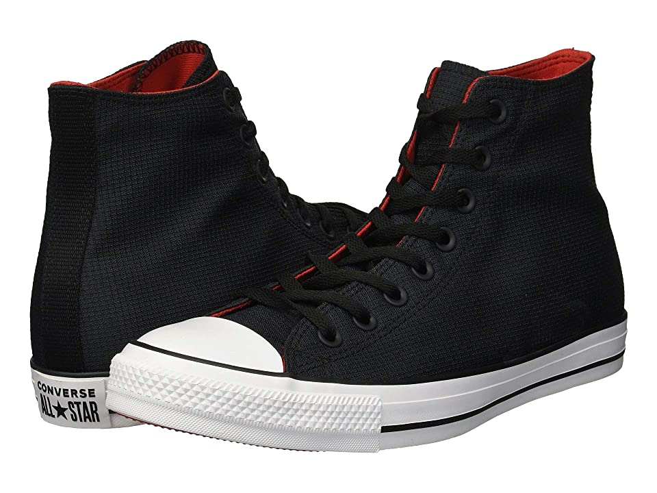 Converse Chuck Taylor All Star Sonic Quilt Hi (Black/Enamel Red/White) Lace up casual Shoes