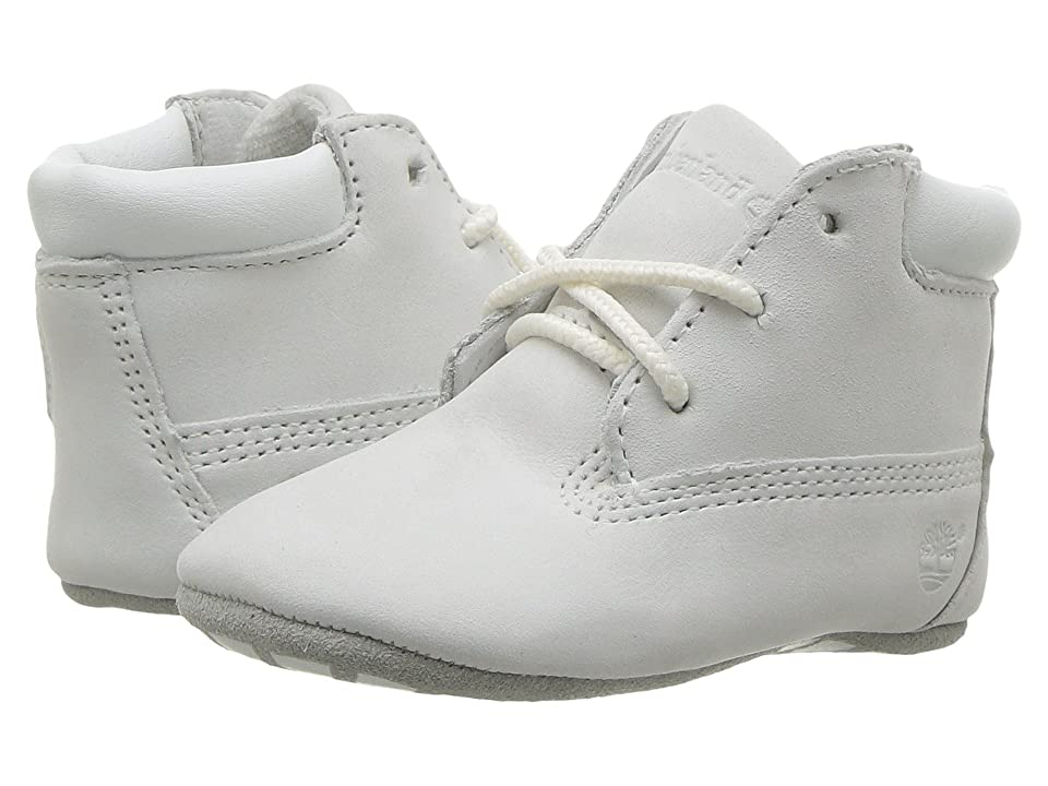 Timberland Kids Crib Bootie with Hat (Infant/Toddler) (Bright White Naturebuck) Kid