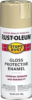 Rust-Oleum 249032 Stops Rust Spray Paint, 12-Ounce, Gloss Khaki