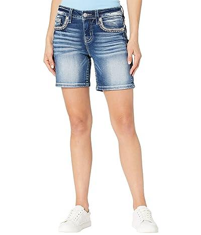 Miss Me Mid-Rise Shorts in Medium Blue Women