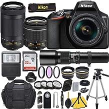 $599 » Nikon D3500 DSLR Camera with AF-P DX NIKKOR 18-55mm f/3.5-5.6G VR + AF-P NIKKOR 70-300mm f/4.5-6.3G ED + 500mm Preset Lens and Deluxe Accessory Bundle