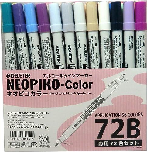 al precio mas bajo Derita marcador de de de alcohol de Color Neopiko 72 Colors conjunto B  comprar ahora