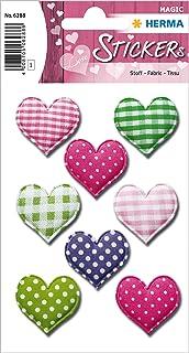 HERMA 6288 Lot de 8 autocollants décoratifs « Love Love Love Love » avec motifs d'amour pour la Saint Valentin, un mariag...