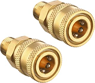 Tool Daily Pressure Washer Coupler, Quick Connect Fitting, Female NPT Socket to Male Thread, 5000 PSI, 1/4 Inch, 2-Pack