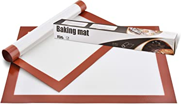 Perfect 2 Pack Silicone Baking Mat/Premium non-stick silicone Baking Sheet for cookies, cupcakes and more. Reusable and easy to use kitchen supplies