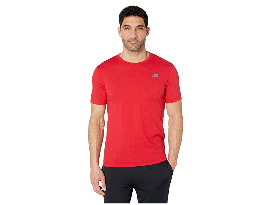 New Balance Heather Tech Short Sleeve (Team Red Inline) Men