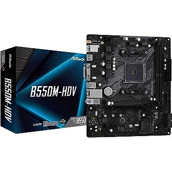 ASRock B550M-HDV Supports 3rd Gen AMD AM4 Ryzen/Future AMD Ryzen Processors Motherboard