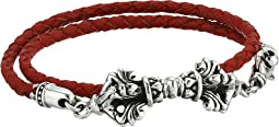 Double Wrap Leather w/ Vajra Clasp Bracelet
