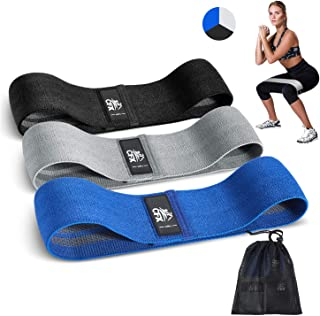 CFX Resistance Bands 3 Sets, Premium Exercise Loops with Non-Slip Design for Hips & Glutes, 3 Resistance Level Workout Boo...