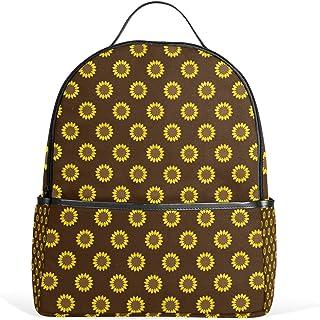 sunlome girasol café Laptop Backpack–Mochila para Estudiante Bolso De Escuela Bolso de Hombro Casual–ligero