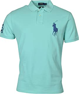 Polo Ralph Lauren Mens Big Pony Custom Slim Fit Mesh Polo Shirt