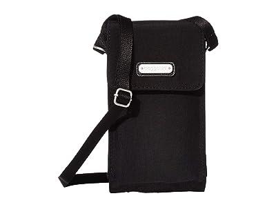 Baggallini Phone Crossbody (Black) Handbags