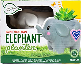 CREATIVE ROOTS Paint Your Own Elephant Planter by Horizon Group USA Toy, Assorted