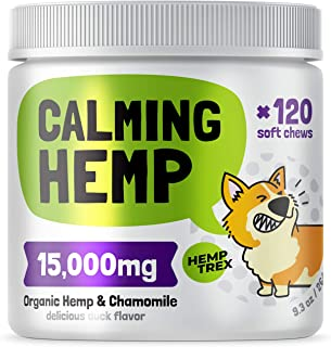Sponsored Ad - Calming Hemp Treats For Dogs - Made in USA with Organic Hemp - Dog Anxiety Relief - Natural Separation Aid ...