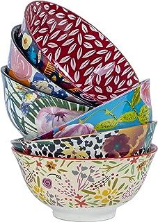 Cooper & Co. Floral Ceramic Bowls 6 Piece Set